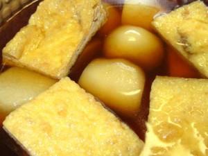 里芋,油揚げ,煮物