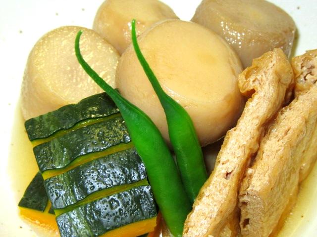 里芋と油揚げの煮物,炊き合わせ
