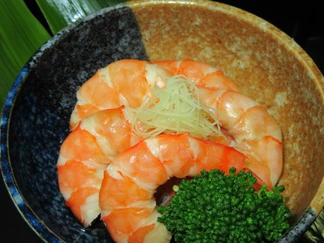えび,海老しば煮,盛りつけ例