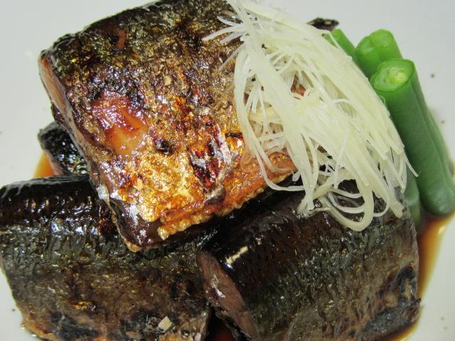 秋刀魚の生姜煮,さんま,骨なし煮物