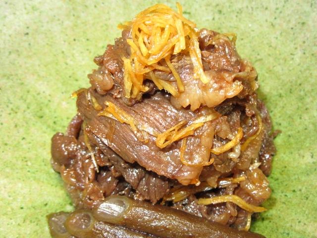牛肉のしぐれ煮,しょうが煮の献立
