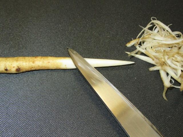 笹がきごぼうの切り方