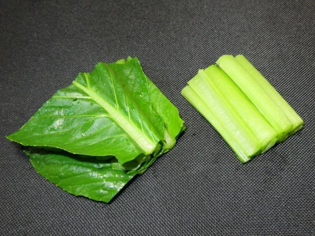 小松菜と油揚げの煮物手順