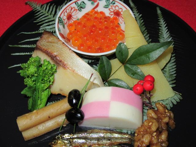 正月の前菜盛り,八寸の献立