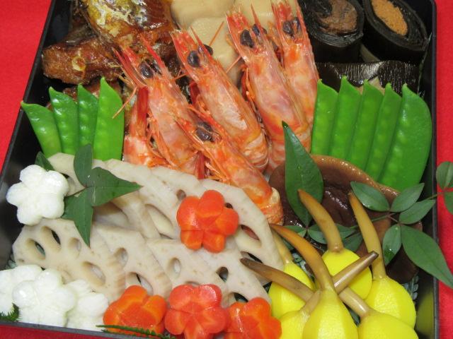 おせち料理の煮しめ重,正月料理の盛りつけ例
