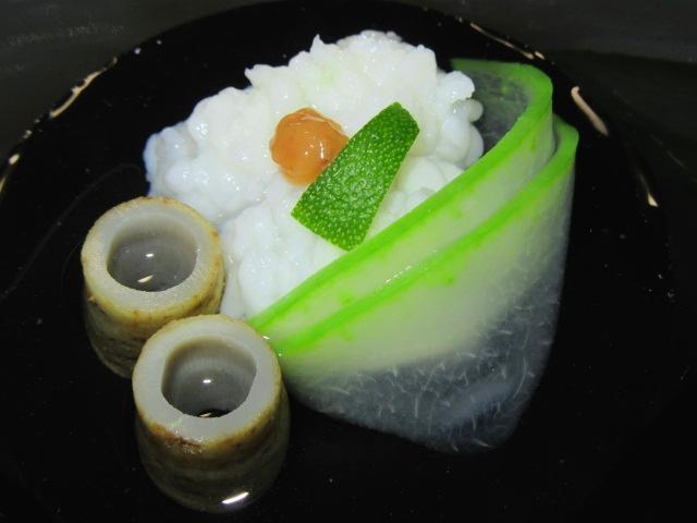 鱧の吸い物,管ごぼう,羽衣冬瓜,夏の献立,はも料理