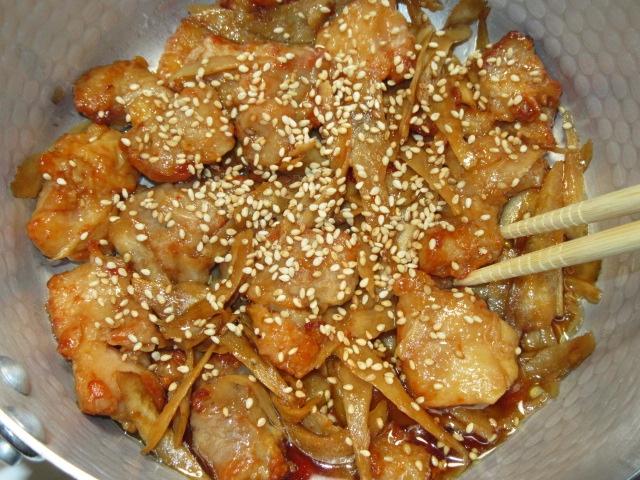 ごぼうと鶏肉の炒め煮