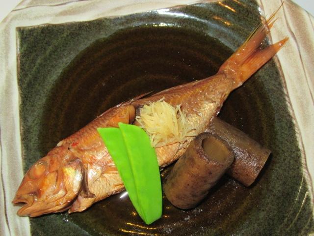 糸より鯛の煮つけ,秋から冬の食材と煮物の献立