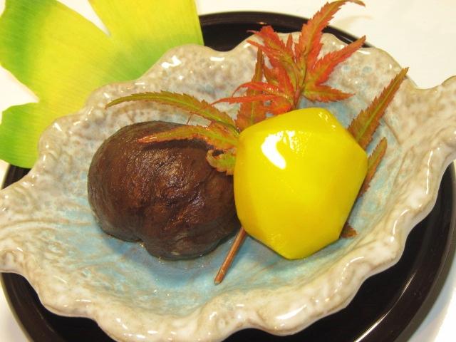 栗の甘露煮とくりの渋皮煮,秋の甘味の献立