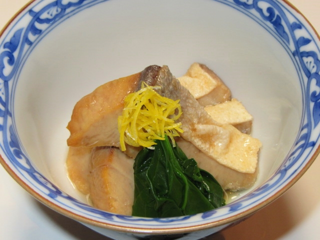 ぶりの揚げ煮,冬の煮物の献立