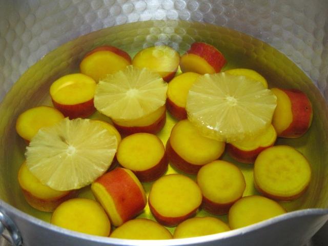 薩摩芋のレモン煮,丸十蜜煮