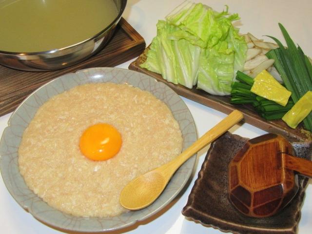 鶏がらスープのつくね鍋,ひき肉つみれ鍋,冬の鍋物の献立