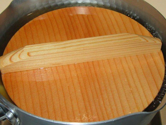春の献立,筍の下味の付け方,落とし蓋をして煮る工程