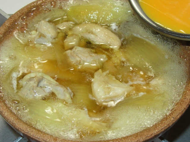 鶏肉と卵の親子鍋の作り方手順