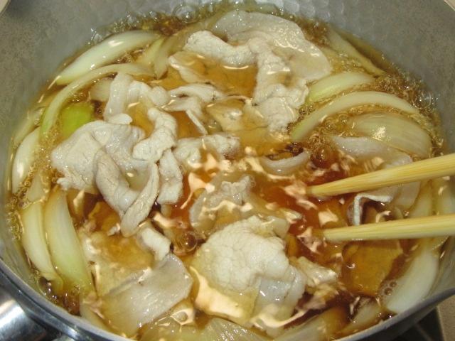 豚スライスの卵とじ鍋の作り方と下処理手順