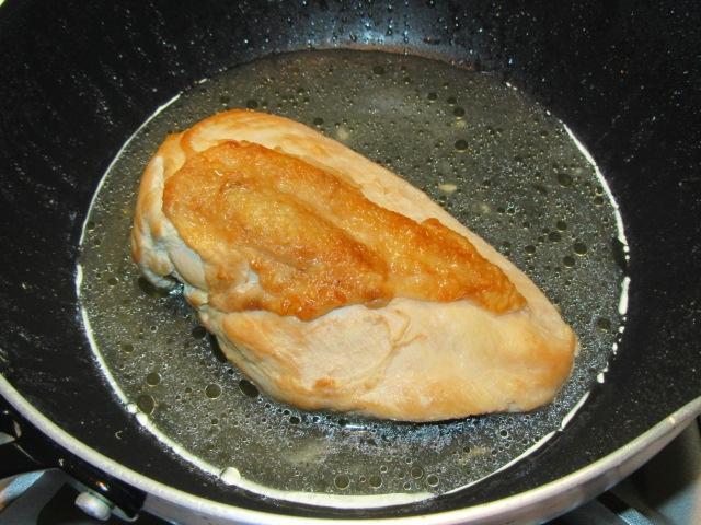 鶏むね肉を柔らかく仕上げる方法,鶏の蒸し焼き煮の作り方の仕上げ
