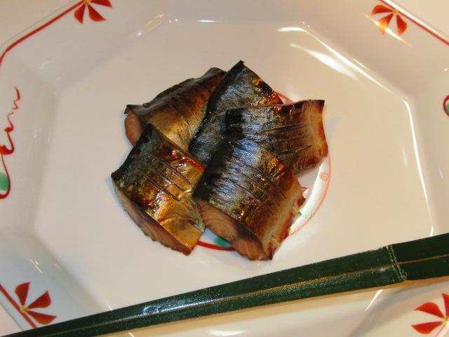 さばの柚庵焼き,茶懐石料理の焼き物の献立