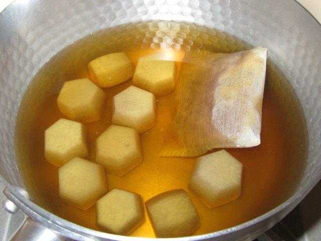 六方小芋の煮物の作り方,追いがつお