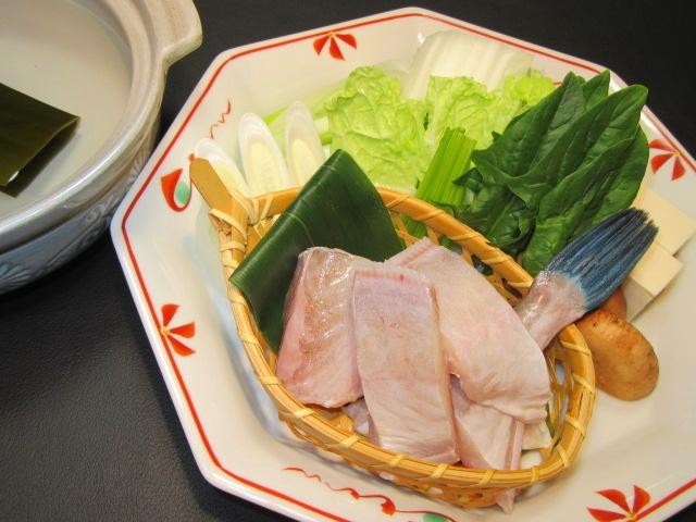 かわはぎのちり鍋,冬の鍋物の献立