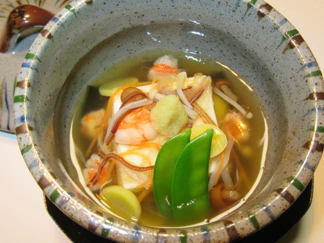 蒸し豆腐の錦秋あんかけ,秋の蒸し物の献立と作り方手順