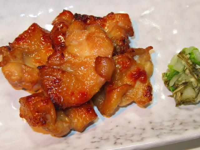 鶏肉のつけ焼きと白菜の松前和え