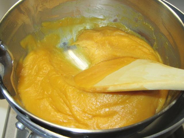 玉味噌の作り方,湯せん鍋で作る方法