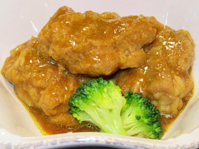 鶏肉のカレー煮,ブロッコリー