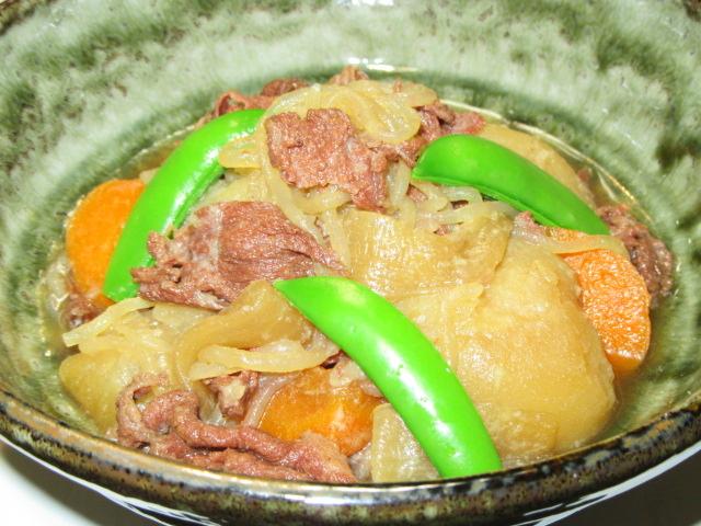 肉じゃがの作り方と盛りつけ例